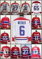 Wholesale Alexander Mix - 2016 New Montreal Canadiens #6 Shea Weber 13 Alexander Semin 47 Alexander Radulov #65 Andrew Shaw Stitched Hockey Jerseys Mix Orders