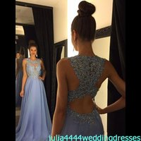 Wholesale Cheap Lilac Long Bridesmaid Dresses - 2016 New Bridesmaid Dresses Lilac Chemical Lace Chiffon Maid Of Honor Gowns Formal Sexy Back Beads Long Sheer Neck Real Image Cheap
