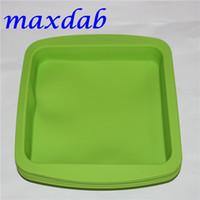"""Wholesale Wholesale Square Dishes - hot DHL silicone wax dish deep pan square shape 8""""X8"""" friendly Non Stick Silicone Container Concentrate food grade silicone tray"""