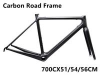 Wholesale 54cm Road Bike Frame - 2018 R5 carbon fiber road bicycle frame T1000 UD carbon bike frame bike combo frame 51 54 56CM