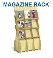 Wholesale Paper Magazine Holder - Corrugated paper Magazine Rack Newspaper and periodica racks Book Magazines Holder Stuffing Storage Organiser Rack Shelf Standing