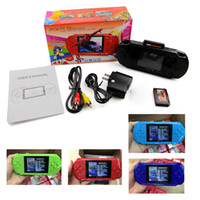 Wholesale Wholesale Video Cables - Mini Portable 16 Bit PXP3 PVP GB Handheld Game Player Video Games Console With AV Cable+2 Game Cards Classic Child Games PXP 3 Slim Station