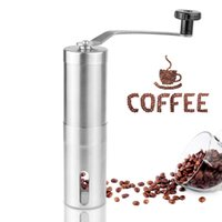 Food Mills Bamboo ECO Friendly Hand Manual Coffee Grinder Stainless Steel Best Coffee Bean Grinder Mill Kitchen Grinding Tool 30g 4.9x18.8cm