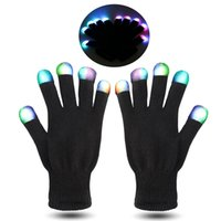 Wholesale Kids Color Glove - HOT Festival Flash Color changing LED Glove Rave light led finger light gloves light up glove For Party favor music concert f