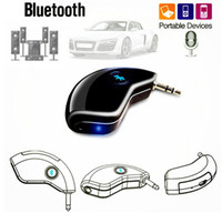 HK008 Super Mini Bluetooth Car Kit Bluetooth Receiver Handsfree AUX outout Adapter para a música e Celular Iphone