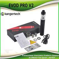 Wholesale Kanger Evod Silver - Authentic Kanger EVOD Pro 2 starter kit All in One 2500mAh 4ML Top Refilling Tank fit KangerTech CLOCC 1.0Ohm coil genuine 2211070