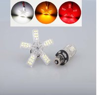 ingrosso artigli rossi-1156 1157 40SMD 3528 Chip White Led Spider Light 5 Claws Auto Car Reverse Tail Singal Brake Lampadine per lampade DC 12V