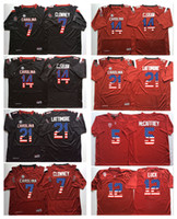 Wholesale Flag Football Jerseys - 2017 Cheap Wholesale Men South Carolina Gamecock 4 ROLAND 7 CLOWNEY 21 LATTIMORE 14 C.SHAW College Football Jerseys Flag Black Red Jerseys
