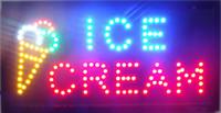 eiscreme auge großhandel-2016 neue ankunft maßgeschneiderte Led Eisdiele Zeichen Neon ins Auge fallenden Slogans bord halb-outdoor 48 cm * 25 cm großhandel