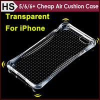 Wholesale Cushions Cover Cheap - Cheap Air Cushion Transparent TPU Case For iPhone 6 6S Plus 5 5S SE Dustproof Shock Resistant Crystal Clear Gasbag Cover DHL Wholesale