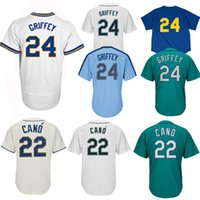 Wholesale Cool Hockey Jerseys - Men's Ken Griffey Jr. Northwest Green Alternate Cool Base Player Jersey