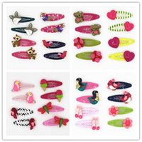 Wholesale Hair Bobby Pin Color - HOT and fashion resin hair clips children & baby hairpin bobby pins cute and lovely design animal flower shape barrettes