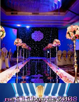 Wholesale Cake Supplies Ring - 1.2m Wide Silver Double Side Wedding Ceremony Centerpieces Decoration Mirror Carpet Aisle Runner Party Supplies MYY