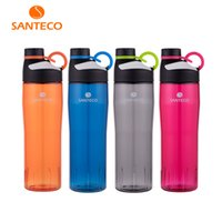 ingrosso bottiglie di tritano-740Ml Santeco Oural Serie leggero bottiglia di acqua BPA libero Tritan bottiglia Flask sportivo con O-Ring Handle