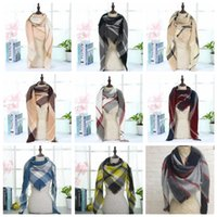 Wholesale Scarf Wholesale Women - Plaid Blankets Scarves Tartan Lattice Scarf Grid Scarf Wrap Fashion Neckerchief Winter Shawl Checked Pashmina 27 design KKA2281