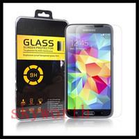 samsung galaxy e7 için temperli cam toptan satış-Premium Temperli Cam Ekran Koruyucu için Patlama geçirmez Samsung Galaxy Mega 6.3 Alfa G850F Çekirdek Max A3 A5 A7 N9150 E5 E7