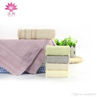 Wholesale Bamboo Absorbent Towel Face - muchun Brand Pure Plant Extracts Dye Shibori Bamboo Fiber Square Towel 25cm*25cm Rectangle Soft Cosmetic Absorbent Terry Face Towel 30*60cm
