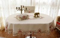 yemek sandalyesi kapağı masa örtüsü toptan satış-Toptan moda eliptik masa örtüsü oval yemek masa örtüsü sandalye kapakları oval şekil masa örtüsü kumaş toalha de mesa
