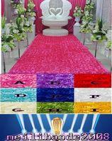 Wholesale Napkin Rings For Wedding Favors - Wedding Table Decorations Background Wedding Favors 3D Rose Petal Carpet Aisle Runner For Wedding Party Decoration Supplies 93cm*140cm MYY