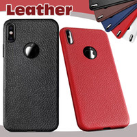 Litchi Leather Pattern Soft TPU Case Ultra Slim à prova de choque Anit-fingerprint Proteção Tampa para iPhone X 8 7 Plus 6 6S Samsung S8 Nota 8