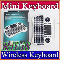 Wholesale Desktop Bluetooth Usb - 10X Rii i8 Remote Mouse Keyboard Combo Wireless 2.4GHz Touchpad Keypad For U1 16 S905 MXQ PRO M8S WIFI Bluetooth Android TV BOX B-FS