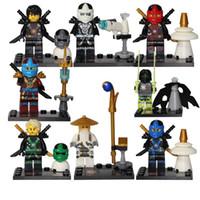 Wholesale Ninja Bricks - SY285 8Pcs Ninja Kai Cole Master Wu Ninja Building Blocks Set Model Bricks Toys Aciton Figures Compatible Leg0es