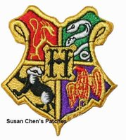 Wholesale Iron Harry Potter Patch - Harry Potter Hufflepuff Iron on Patches Embroidery Patches 10pca a lot