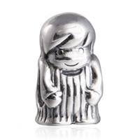 Wholesale boy charms sterling silver - Mother's Day Boy Charm Beads Fits Shealia Bracelets Original 925 Sterling Silver Vintage Boy Children Bead DIY 2016 Fine Jewelry HB192