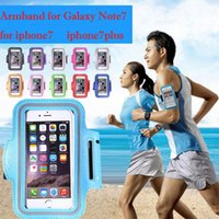 Pour Note7 Cas iPhone 7 Sport Armband Bracelet WaterProof Sport Gym Running Bracelet Protecteur Samsung Galaxy note 3 S3 4 5