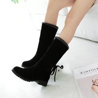 Wholesale Flocking Fabric Manufacturers - South Korea fashion winter boots European and American popular boots Manufacturers selling ' Quality assurance Exempt postage