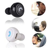Wholesale Bluetooth Ear Plug Headphones - Mini earphone Wireless Bluetooth 4.0 Headset Stereo Music Plug Headphones Invisible Earbuds with Portable Mobile Phone Earphone