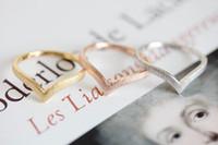 gelenk ring schmuck silber großhandel-Minimalismus Schmuck Anillo 2016 Gold / Silber / Roségold V-Ring antike Accessoires Chevron Gelenke für Männer und Frauen