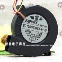Wholesale 12v Servo - Original SERVO E0720H12B5AS-10 12V 0.2A 7CM 70*70*20 3 wire projector turbine drum fan