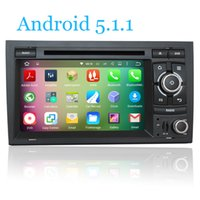 Wholesale Dvd Player Audi A4 - Android 5.1.1 Quad Core 16GB Flash 1024*600 Car DVD Player For Audi A4 2002-2007 Seat Exeo 2009-2012 Radio GPS Navigation System
