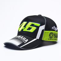Wholesale Gold Yamaha - 2017 New Snapback Hats Wholesale YAMAHA Rossi 46 Embroidery Baseball Cap Hat Motorcycle Racing VR46 Caps Bone For Men Women