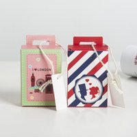 Wholesale chocolate chemicals online - Suitcase Candy Boxes Square Color Paper Chocolate Organizer Portable Travel Style Wedding Favors Sweet Case Decorations zz BW
