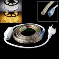 sarkıt hafif bar toptan satış-50 CM LED Su Geçirmez Esnek Şerit Işık Çubuğu Sıcak Saf Beyaz 220 V AB Tak # 61090 fiş kolye aydınlatma