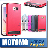 Wholesale Luxury Brushed Aluminum Case - For Iphone 6S Case Motomo Luxury Metal Aluminum Brushed + PC Hard Back Cover Case Skin For iphone 6s plus Samsung Note5 G530 G360