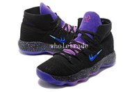 Wholesale Mens Purple Canvas Shoes - Free Shipping Hyperdunk BHM Black Purple Basketball Shoes Mens Hyperdunk 2017 Black Purple Sneakers Size US 7-12 Come With Box