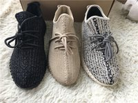 Wholesale Oxford Boots For Women - Kanye West 350 Boost Shoes Pirate Black White Oxford Tan Moonrock Running Shoe Sneakers Boots for Men Womens Footwear Size 5-12.5