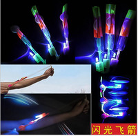 Led Amazing Helicopter online - Novelty Children LED Toys Amazing LED Flying Arrow Helicopter for Sports Funny Slingshot birthday party supplies Kids flying toy Gift