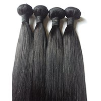 7A Unprocessed Brazilian Indian Virgin trame extensions de trame 8-26inch Natural Color 1pc Peruvian Russian remy cheveux humains Weave DHgate