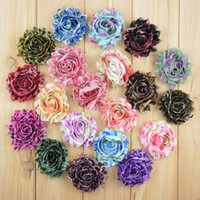 Wholesale Decorations For Shoes Babies - 2.5inch Shabby Chiffon Flower fabric Flower for Baby Children Hair Accessories corsage garment decoration shoes flower B137