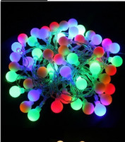 Wholesale 10m LEDs Battery Powered Led Ball string light Fairy light home Hotel Christmas Bar Party Ball Wedding Event decoration
