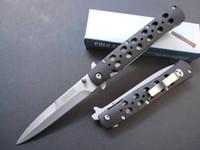 lençóis de plástico venda por atacado-Promoção! Aço Inoxidável 26 S faca de bolso lâmina branca rápida faca aberta 440 lâmina de aço + folha de plástico ABS handle Facas Dobráveis