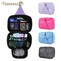 Wholesale Hanging Wash - Wholesale- DINIWELL Luxury Wash Bag Toiletry Travel MakeUp Mens Ladies Hanging Folding Cosmetics Organizer Storage Container For Outdoor
