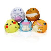 Wholesale pokemon mewtwo online - New Poke Pikachu Mewtwo Plush Key Rings Cartoon Figure Handbag Car Cell Phone Pendant Keychain Stuffed Doll Toys Gifts