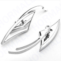 Wholesale Custom Motorcycles Mirrors - CHROME BLADE ALUMINUM CUSTOM MIRRORS FOR HARLEY MOTORCYCLE CRUISER CHOPPER REARVIEW MIRROR