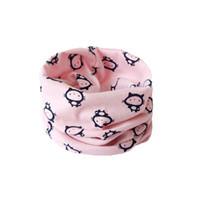 Wholesale White Crochet Scarf - Baby Neckerchief Warm Cat Ring Neckerchief Children Baby Boy Girl Crochet Scarves Child Pullover Neckerchief Kid Accessories