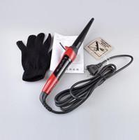 tubos para cabelos elétricos venda por atacado-modelador de cabelo varinha ferro de ondulação profissional automático de volume estilo rolo único tubo eléctrico seco encaracolado cabelo molhado ferramenta tecer